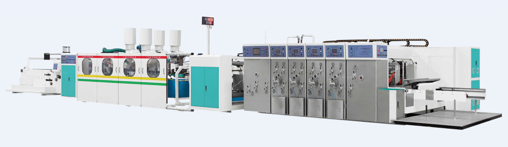 Automatic Flexo Printer Slotter Die-cutter Inline Folder Gluer & Counter Ejector